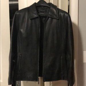 Other - Black Leather Colebrook Co. Jacket, Medium